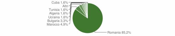 Grafico cittadinanza stranieri - Feroleto della Chiesa 2019