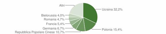 Grafico cittadinanza stranieri - Tropea 2007