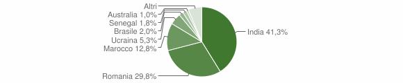 Grafico cittadinanza stranieri - Ardore 2019