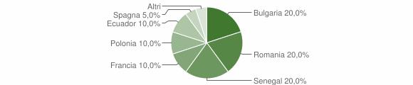 Grafico cittadinanza stranieri - Filogaso 2013