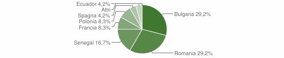 Grafico cittadinanza stranieri - Filogaso 2018
