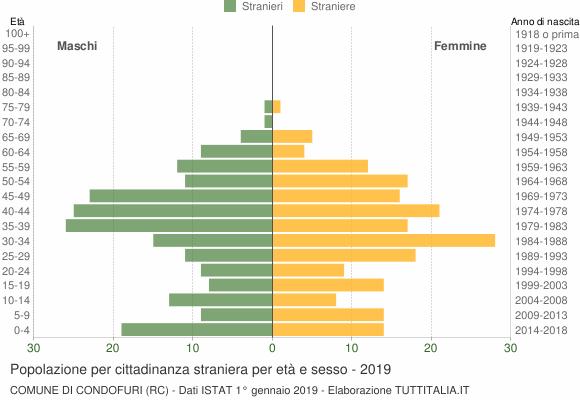 Grafico cittadini stranieri - Condofuri 2019