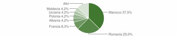 Grafico cittadinanza stranieri - Grotteria 2009
