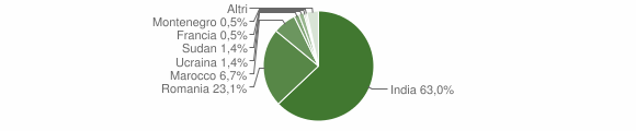 Grafico cittadinanza stranieri - San Lorenzo 2019