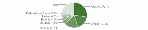 Grafico cittadinanza stranieri - Palizzi 2019