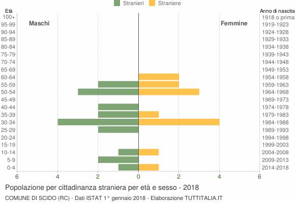 Grafico cittadini stranieri - Scido 2018