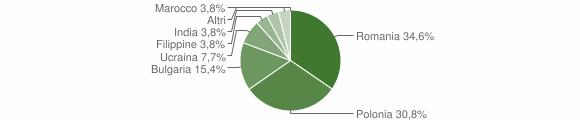 Grafico cittadinanza stranieri - Cosoleto 2014