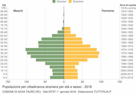 Grafico cittadini stranieri - Gioia Tauro 2018