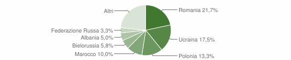 Grafico cittadinanza stranieri - Mendicino 2011