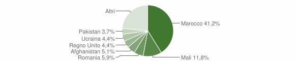 Grafico cittadinanza stranieri - Stignano 2016