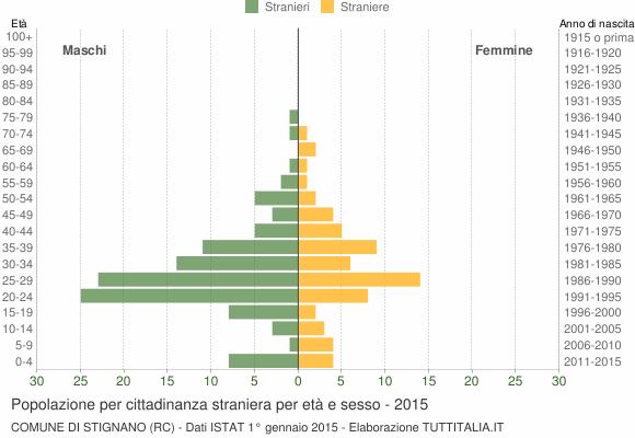 Grafico cittadini stranieri - Stignano 2015