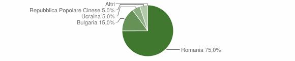 Grafico cittadinanza stranieri - Bocchigliero 2010