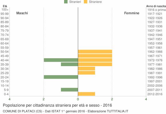 Grafico cittadini stranieri - Plataci 2016