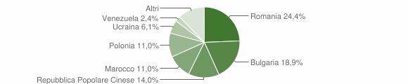 Grafico cittadinanza stranieri - Montepaone 2008