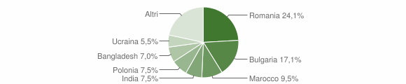 Grafico cittadinanza stranieri - Montepaone 2009