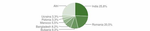 Grafico cittadinanza stranieri - Montepaone 2019