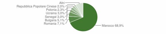 Grafico cittadinanza stranieri - Falerna 2009