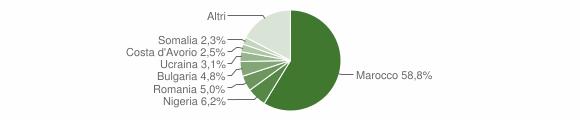 Grafico cittadinanza stranieri - Falerna 2019