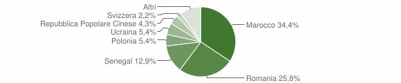 Grafico cittadinanza stranieri - Nocera Terinese 2008
