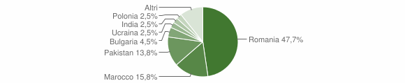 Grafico cittadinanza stranieri - Cassano all'Ionio 2019