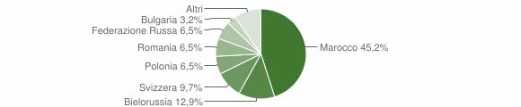 Grafico cittadinanza stranieri - Gimigliano 2008
