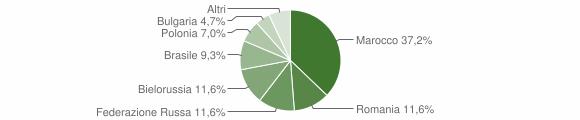 Grafico cittadinanza stranieri - Gimigliano 2010