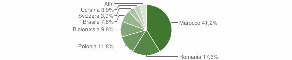 Grafico cittadinanza stranieri - Gimigliano 2014