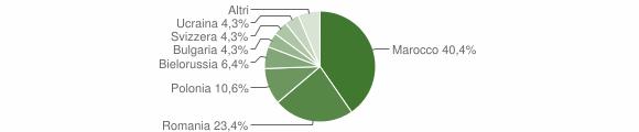 Grafico cittadinanza stranieri - Gimigliano 2019