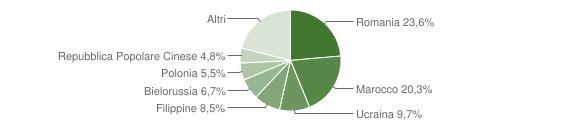 Grafico cittadinanza stranieri - Catanzaro 2013