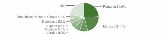 Grafico cittadinanza stranieri - Catanzaro 2019