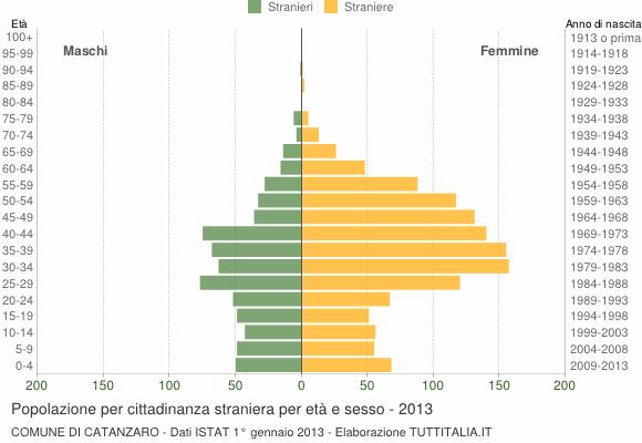 Grafico cittadini stranieri - Catanzaro 2013