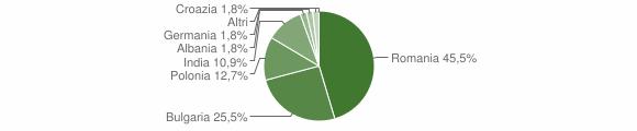 Grafico cittadinanza stranieri - San Mauro Marchesato 2010
