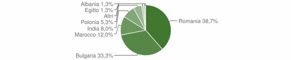 Grafico cittadinanza stranieri - San Mauro Marchesato 2019
