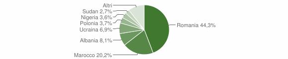 Grafico cittadinanza stranieri - Cutro 2013