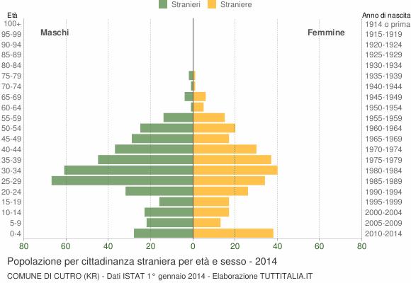 Grafico cittadini stranieri - Cutro 2014