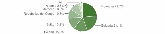 Grafico cittadinanza stranieri - Belvedere di Spinello 2007