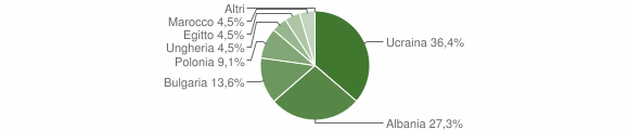 Grafico cittadinanza stranieri - Caraffa di Catanzaro 2005