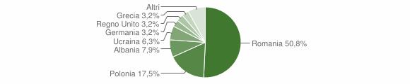 Grafico cittadinanza stranieri - Cerisano 2011