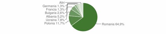 Grafico cittadinanza stranieri - Cerisano 2018
