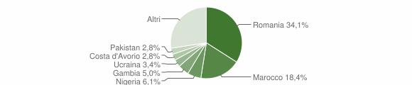 Grafico cittadinanza stranieri - Dipignano 2019