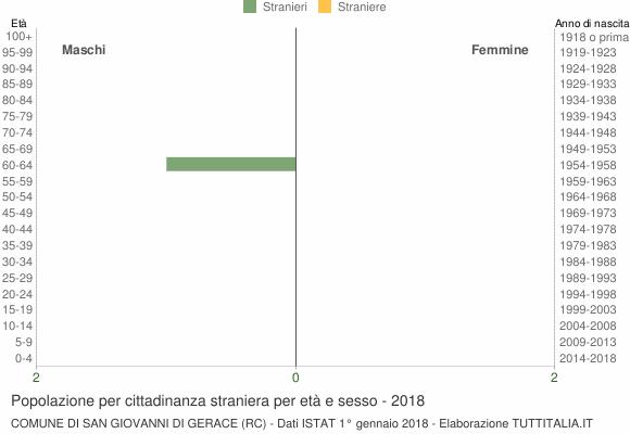 Grafico cittadini stranieri - San Giovanni di Gerace 2018