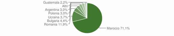 Grafico cittadinanza stranieri - Sant'Onofrio 2009