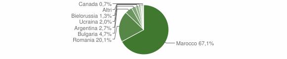 Grafico cittadinanza stranieri - Sant'Onofrio 2013