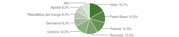 Grafico cittadinanza stranieri - Camini 2009