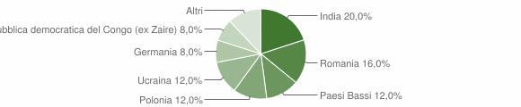 Grafico cittadinanza stranieri - Camini 2010