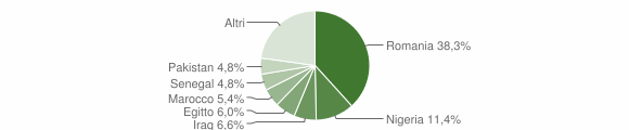 Grafico cittadinanza stranieri - Decollatura 2019
