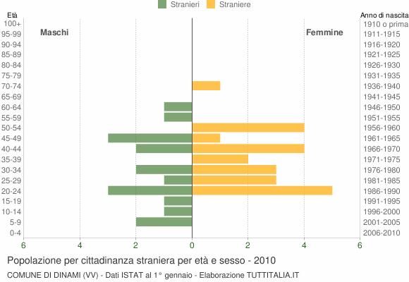 Grafico cittadini stranieri - Dinami 2010