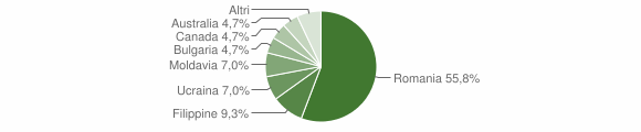 Grafico cittadinanza stranieri - Gerocarne 2010