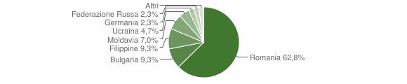 Grafico cittadinanza stranieri - Gerocarne 2011