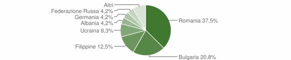 Grafico cittadinanza stranieri - Gerocarne 2017